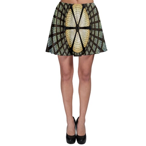 Stained Glass Colorful Glass Skater Skirt
