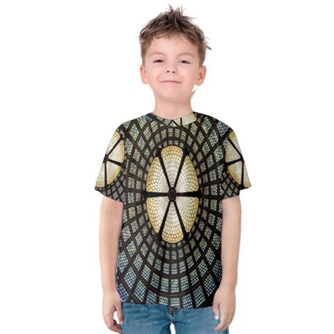 Stained Glass Colorful Glass Kids  Cotton Tee