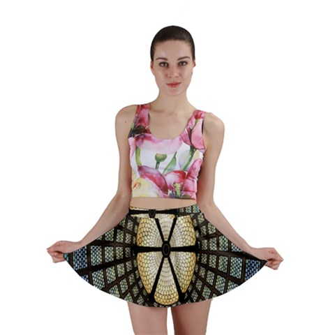 Stained Glass Colorful Glass Mini Skirt