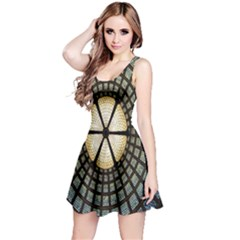 Stained Glass Colorful Glass Reversible Sleeveless Dress