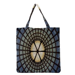 Stained Glass Colorful Glass Grocery Tote Bag