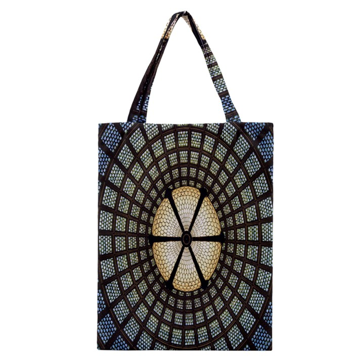 Stained Glass Colorful Glass Classic Tote Bag
