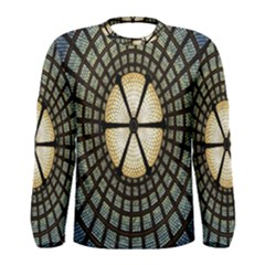 Stained Glass Colorful Glass Men s Long Sleeve Tee