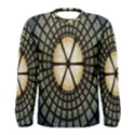 Stained Glass Colorful Glass Men s Long Sleeve Tee View1