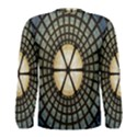 Stained Glass Colorful Glass Men s Long Sleeve Tee View2