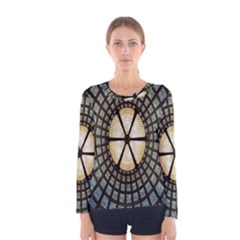 Stained Glass Colorful Glass Women s Long Sleeve Tee