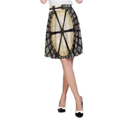 Stained Glass Colorful Glass A-Line Skirt