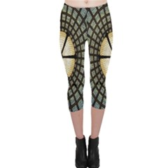 Stained Glass Colorful Glass Capri Leggings