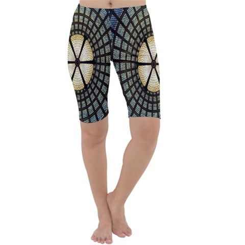 Stained Glass Colorful Glass Cropped Leggings