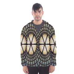 Stained Glass Colorful Glass Hooded Wind Breaker (Men)