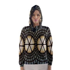Stained Glass Colorful Glass Hooded Wind Breaker (Women)