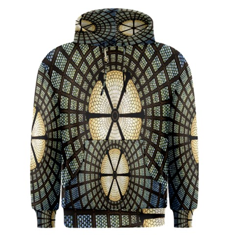 Stained Glass Colorful Glass Men s Pullover Hoodie