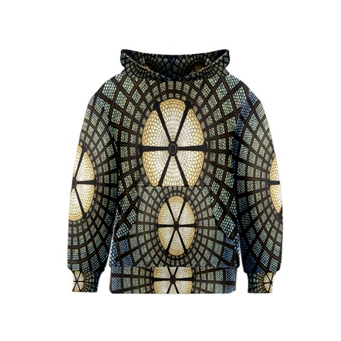 Stained Glass Colorful Glass Kids  Pullover Hoodie