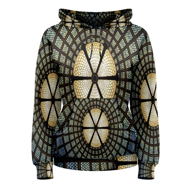 Stained Glass Colorful Glass Women s Pullover Hoodie