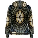 Stained Glass Colorful Glass Women s Pullover Hoodie View2