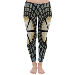 Stained Glass Colorful Glass Winter Leggings
