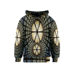 Stained Glass Colorful Glass Kids  Zipper Hoodie