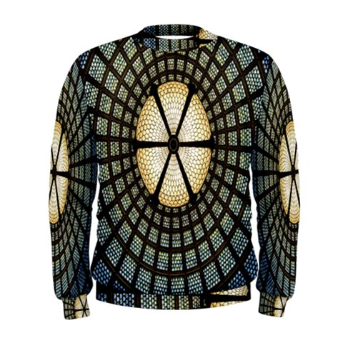 Stained Glass Colorful Glass Men s Sweatshirt