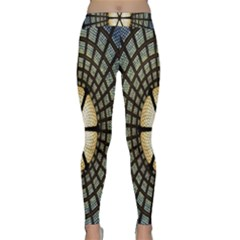 Stained Glass Colorful Glass Yoga Leggings