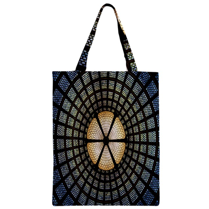 Stained Glass Colorful Glass Zipper Classic Tote Bag