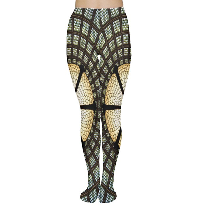 Stained Glass Colorful Glass Women s Tights