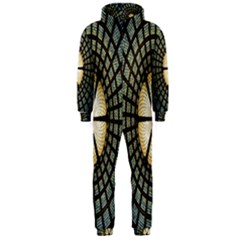 Stained Glass Colorful Glass Hooded Jumpsuit (Men)