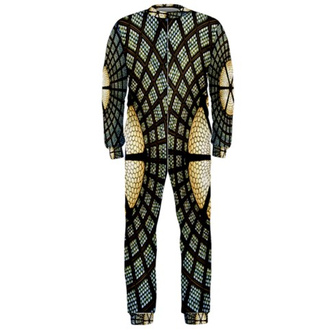 Stained Glass Colorful Glass OnePiece Jumpsuit (Men)