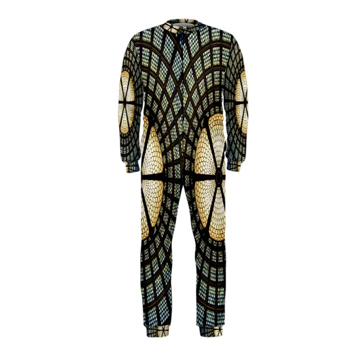 Stained Glass Colorful Glass OnePiece Jumpsuit (Kids)