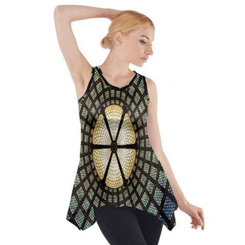 Stained Glass Colorful Glass Side Drop Tank Tunic