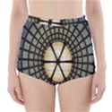 Stained Glass Colorful Glass High-Waisted Bikini Bottoms View1