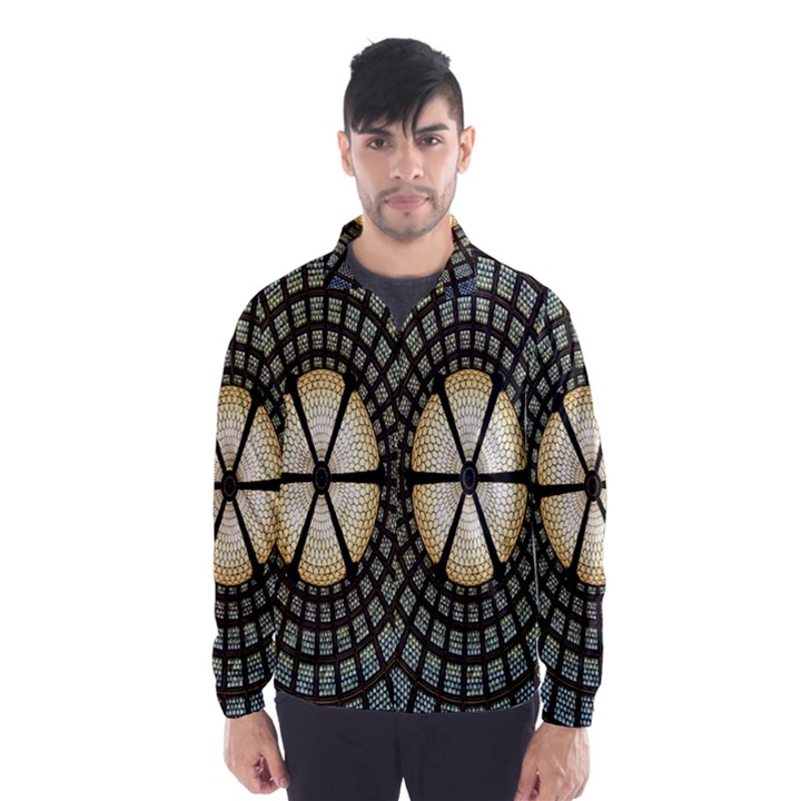 Stained Glass Colorful Glass Wind Breaker (Men)