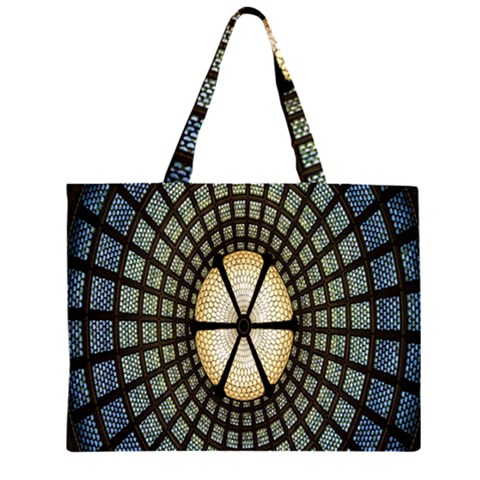 Stained Glass Colorful Glass Large Tote Bag