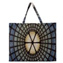 Stained Glass Colorful Glass Zipper Large Tote Bag View1