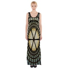 Stained Glass Colorful Glass Maxi Thigh Split Dress