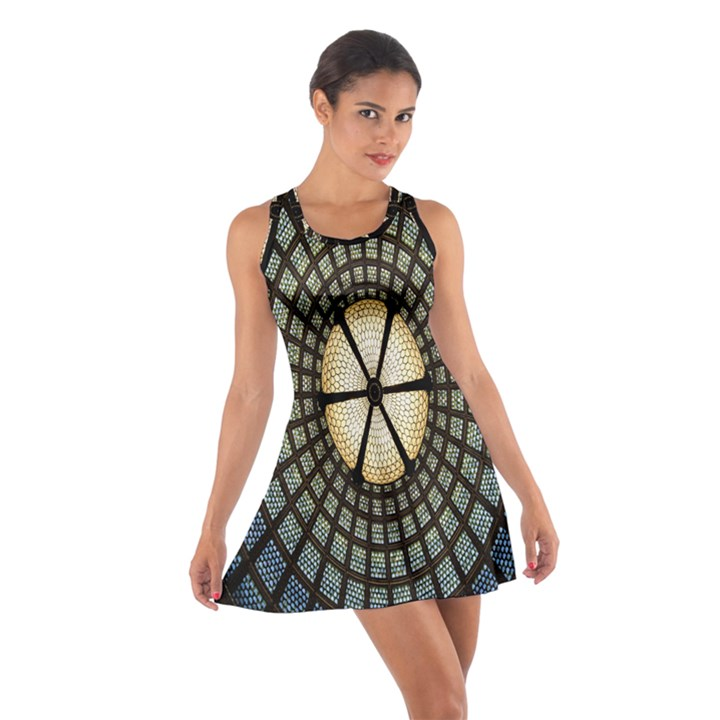 Stained Glass Colorful Glass Cotton Racerback Dress