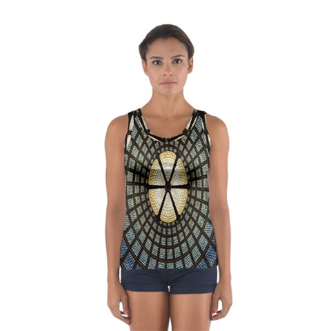 Stained Glass Colorful Glass Women s Sport Tank Top