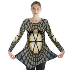 Stained Glass Colorful Glass Long Sleeve Tunic