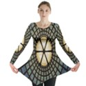 Stained Glass Colorful Glass Long Sleeve Tunic  View1