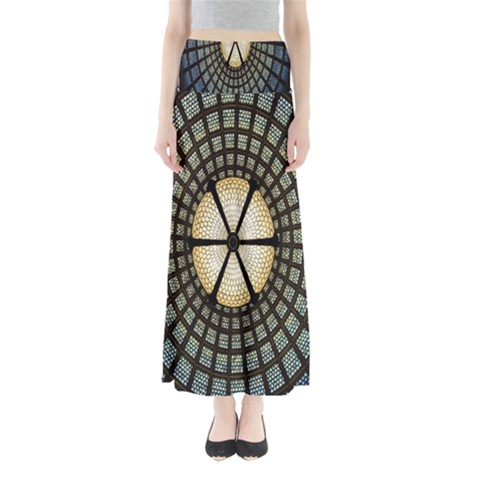 Stained Glass Colorful Glass Maxi Skirts