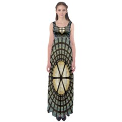 Stained Glass Colorful Glass Empire Waist Maxi Dress