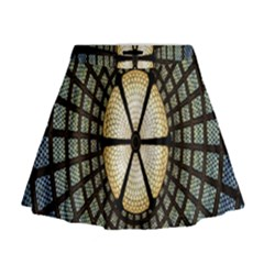 Stained Glass Colorful Glass Mini Flare Skirt