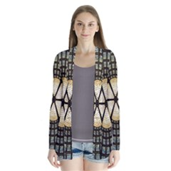 Stained Glass Colorful Glass Drape Collar Cardigan