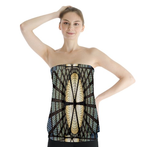 Stained Glass Colorful Glass Strapless Top