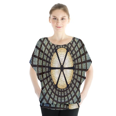 Stained Glass Colorful Glass Blouse