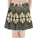 Stained Glass Colorful Glass Pleated Mini Skirt View1