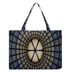 Stained Glass Colorful Glass Medium Zipper Tote Bag