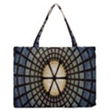Stained Glass Colorful Glass Medium Zipper Tote Bag View1