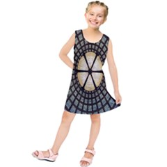 Stained Glass Colorful Glass Kids  Tunic Dress