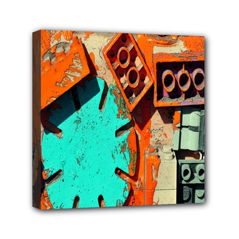 Sunburst Lego Graffiti Mini Canvas 6  x 6