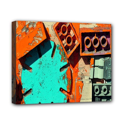 Sunburst Lego Graffiti Canvas 10  x 8